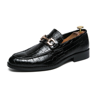 Business Cusp leather black shoes for men slip on safety shoes genuine leather men shoes