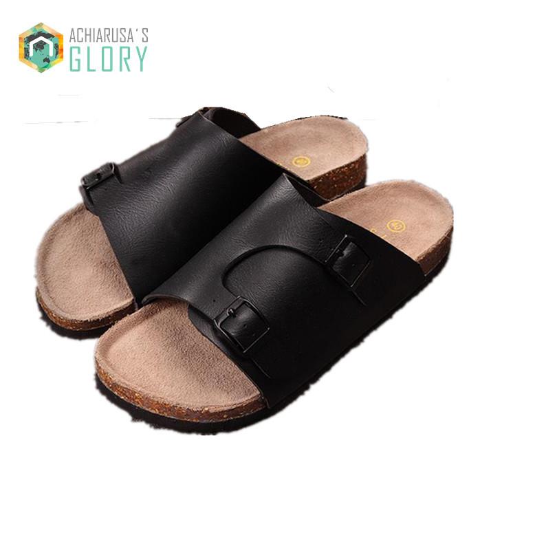 dd7be31502a4 Get Quotations · 2015 Summer Beach Birkenstocks Sandals Huarache Men  Slippers Cork Birkenstocks Sandals Sport Slippers Fashion Sports Slippers
