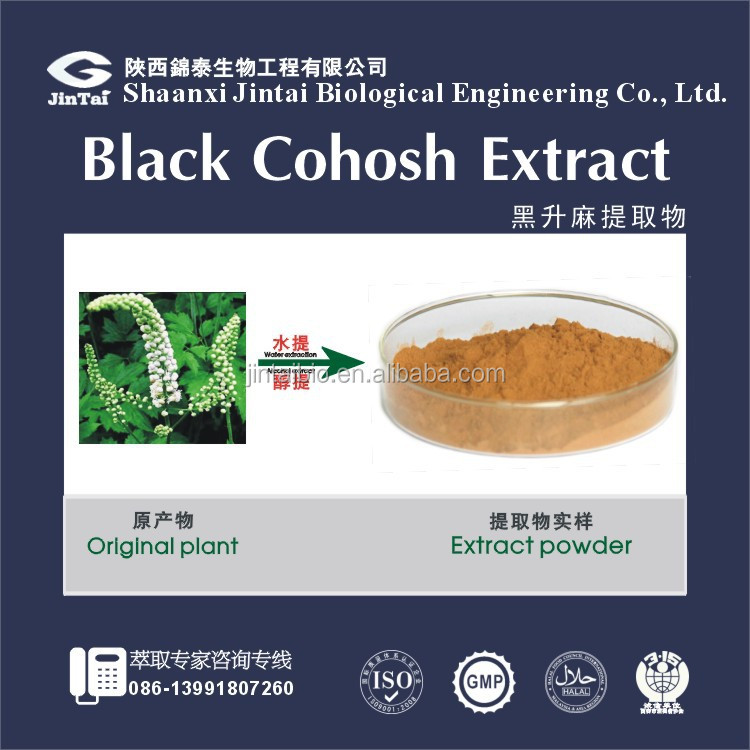 Black Cohosh P.E. with HPLC 2.5% 5.0% 8.0% triterpenoid saponins