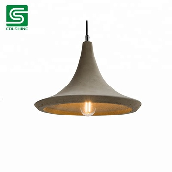 American Country Style Rustic Cement Pendant Light Fixtures Concrete Hanging Lamp Vintage Hemp Rope Product On