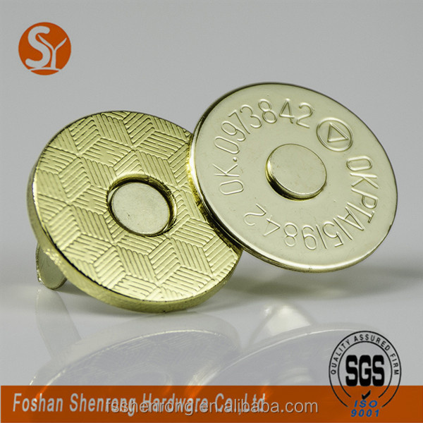 Thin Magnetic Snap Button Metal Hardware For Handbags