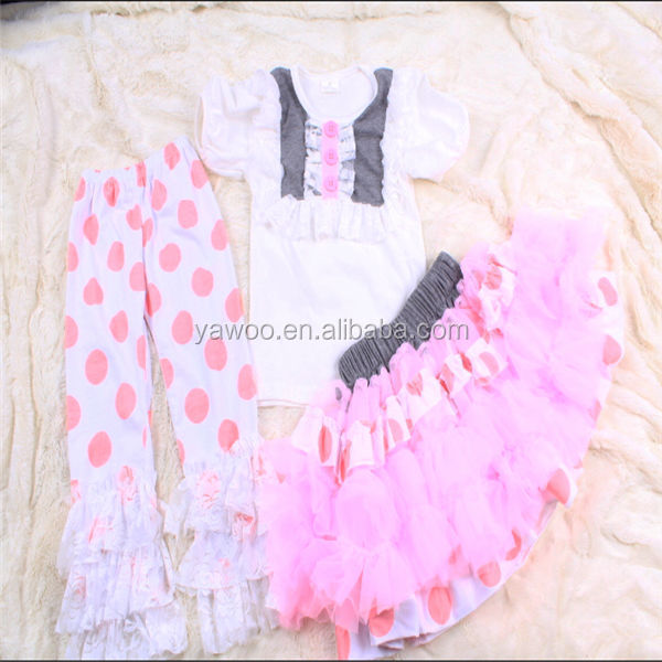 New Arrival Graphic Designer Casual Baby Girls Top And Triple Ruffle Pant  Fancy Mini Skirt 3pcs 1 Year Old Baby Clothes - Buy 1 Year Old Baby