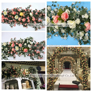 LFB562 high quality artificial silk wedding flower garland in different colors