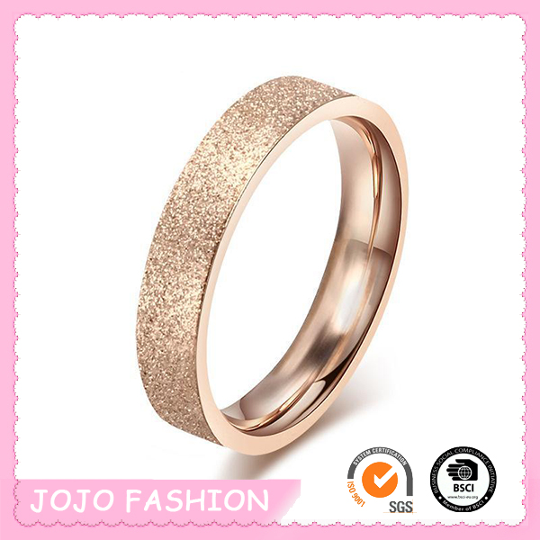 Shining Eco-friendly Exquisite Wedding Matting Gold Finger Ring/