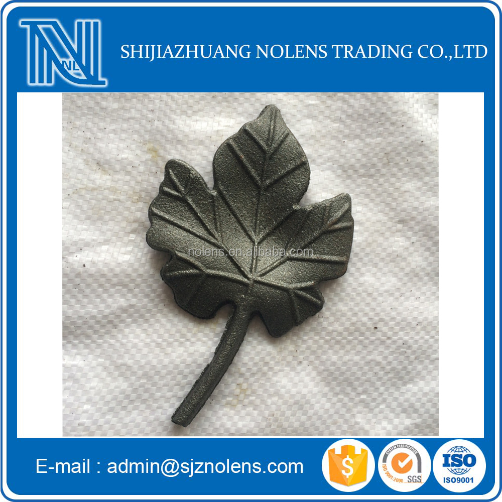Decorative Wrought Iron Components Cast Iron Flowers and Leaves Gate Fence Detor
