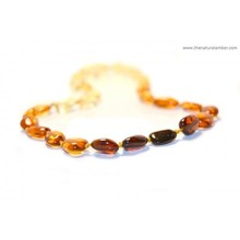 High Quality Amber Teething Necklaces from Lithuania, Olive (bean) Style, 11 Different Colors