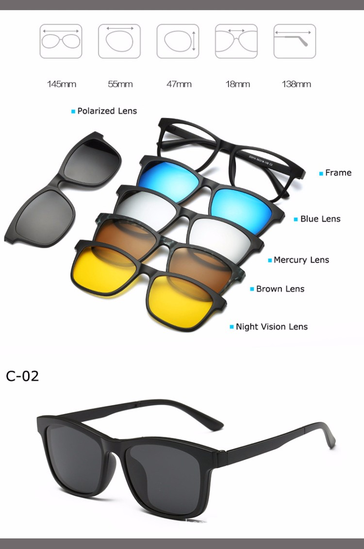 95d4cee673 2019 Wholesale Fashion Spectacle Frame Men Women With Clip On ...