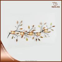 Romantic Iron Beautiful Leaf Candle Holders/Lantern Wedding Home Shell Wall Decoration