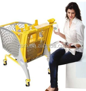 Korea Plastic Shopping Trolley Hot Sale Fashionable Supermarket Shopping Cart