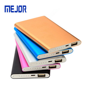 Mini Phone Powerbank portable charger with brand application 5,000 mah slim wallet power bank