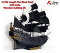 RealTS New version Classical wooden sailing boat 1 34 black pearl Pirates of the Caribbean wood