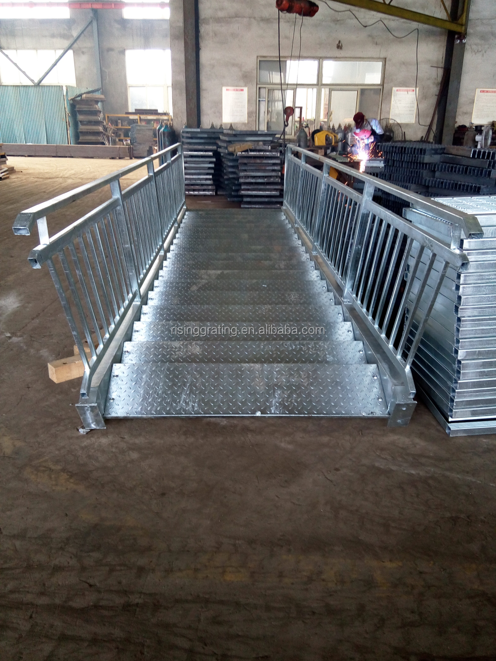 Durable Without Deformation aluminum grating stair tread ladder