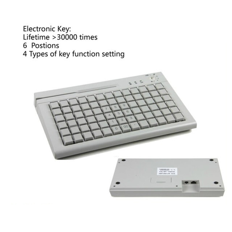 All in one 3 locks pos system programmable wired/wireless keyboard