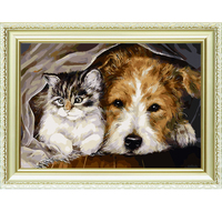 New arrived good friends pattern abstract paint oil picture by numbers