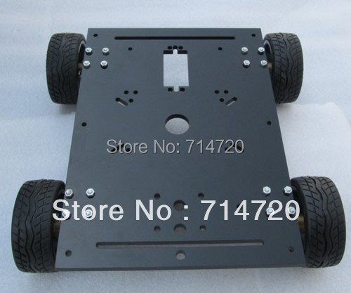Free shipping Maximum Load 15KG 4WD robot chassis smart car chassis with 4 dc metal motor