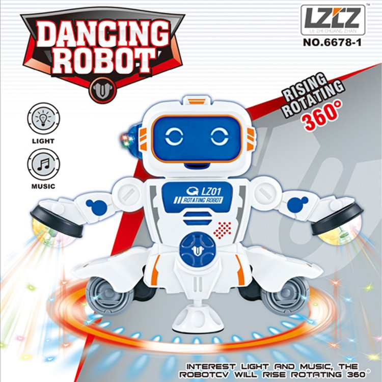 Hot sale 360  rotation dancing electric robot speaker toy for kids