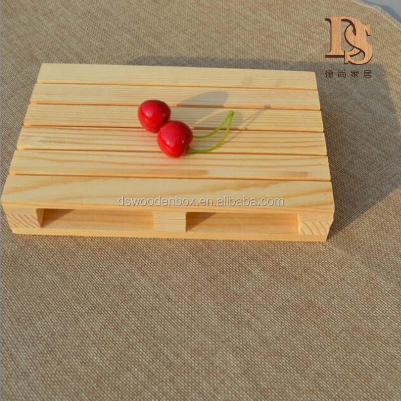 Mini Pine <strong>wood</strong> Pallet Table Top Plate Base Cup Mat Bowl Base Coaster