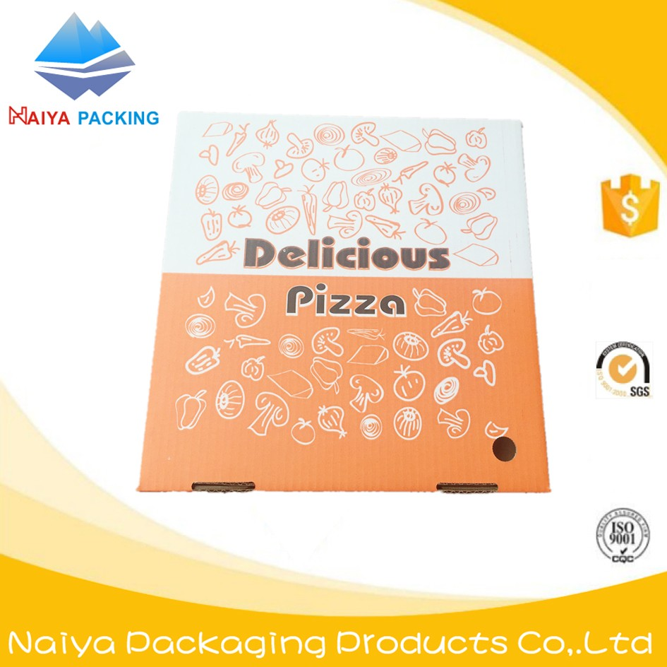 High Quality 3-layer Pizza Box Corrugated Paper Cheap India Lunch Box 10inch 12inch 14inch 16inch