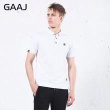 5d854fdeb5 GAAJ Nova Camisa Polo Dos Homens Da Marca de Verão Plus Size 4XL Sólida Gola  virada Para Baixo Camisa de Manga Curta Moda Casual.