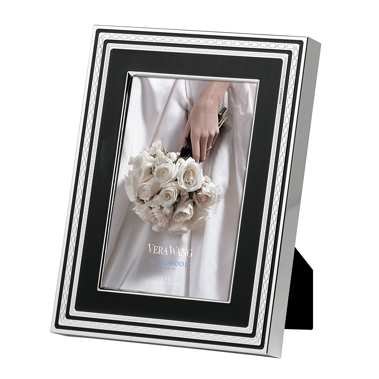"Wedgwood by Vera Wang With Love Frame - Noir - 4"" x 6"""