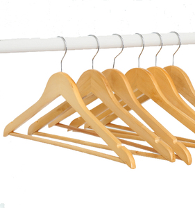 New design hotel high quality wooden pants clothes hangers