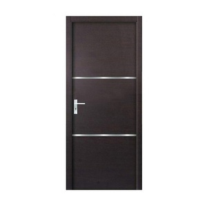 Wooden panel simple design flush wooden door interior door single room door for sale