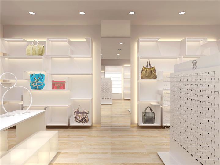Custom Design Bag Store Interior Decoration Handbag Shop Interior