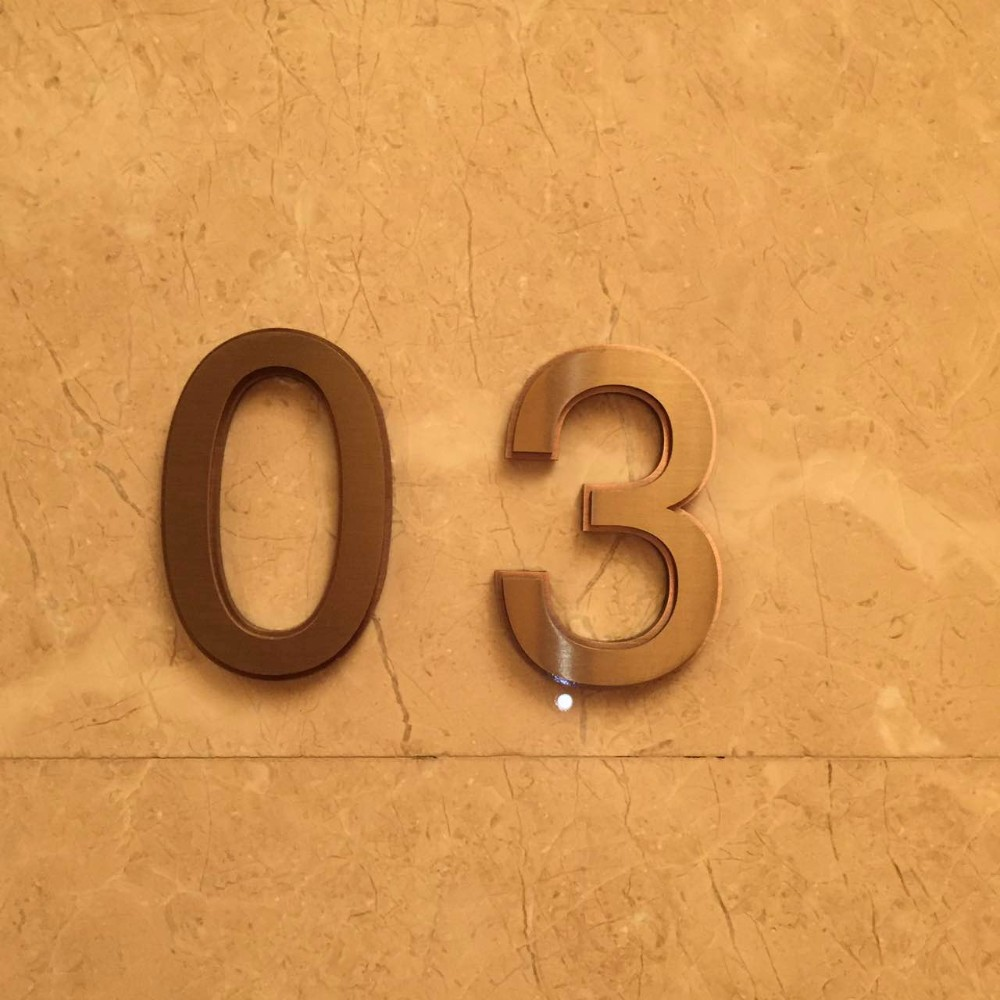 Hight Quality Stainless Steel Apartment Door Number, Metal Letters And  Numbers