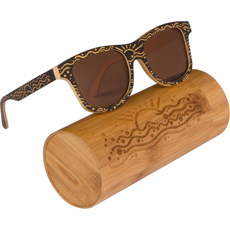 2675a2f06741 Get Quotations · WOODIES Custom Designed Full Bamboo Wood Sunglasses