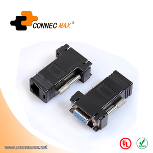 VGA Female Video Extender Plug to LAN CAT5 CAT5E CAT6 RJ45 Network Adapter