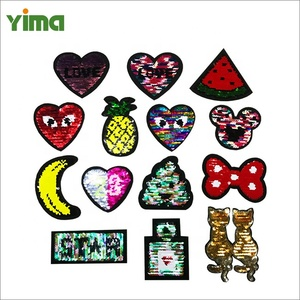 Reversible Change Color MIX Color Sequins Iron Or Sew On Patches For Clothes DIY Patch Applique Crafts