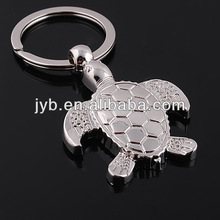 Turtle shaped funny keychain metal,promotional key rings