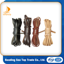 whosale 2mm 3mm 5mm Flat cowhide leather cord