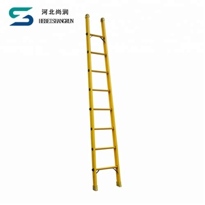 FRP ,GRP, Fiberglass Insulated Straight Ladder telescopic ladder fiberglass