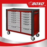 BOXO MAT7450141 Heavy duty Organization Metal Tool Box Storage Trolley