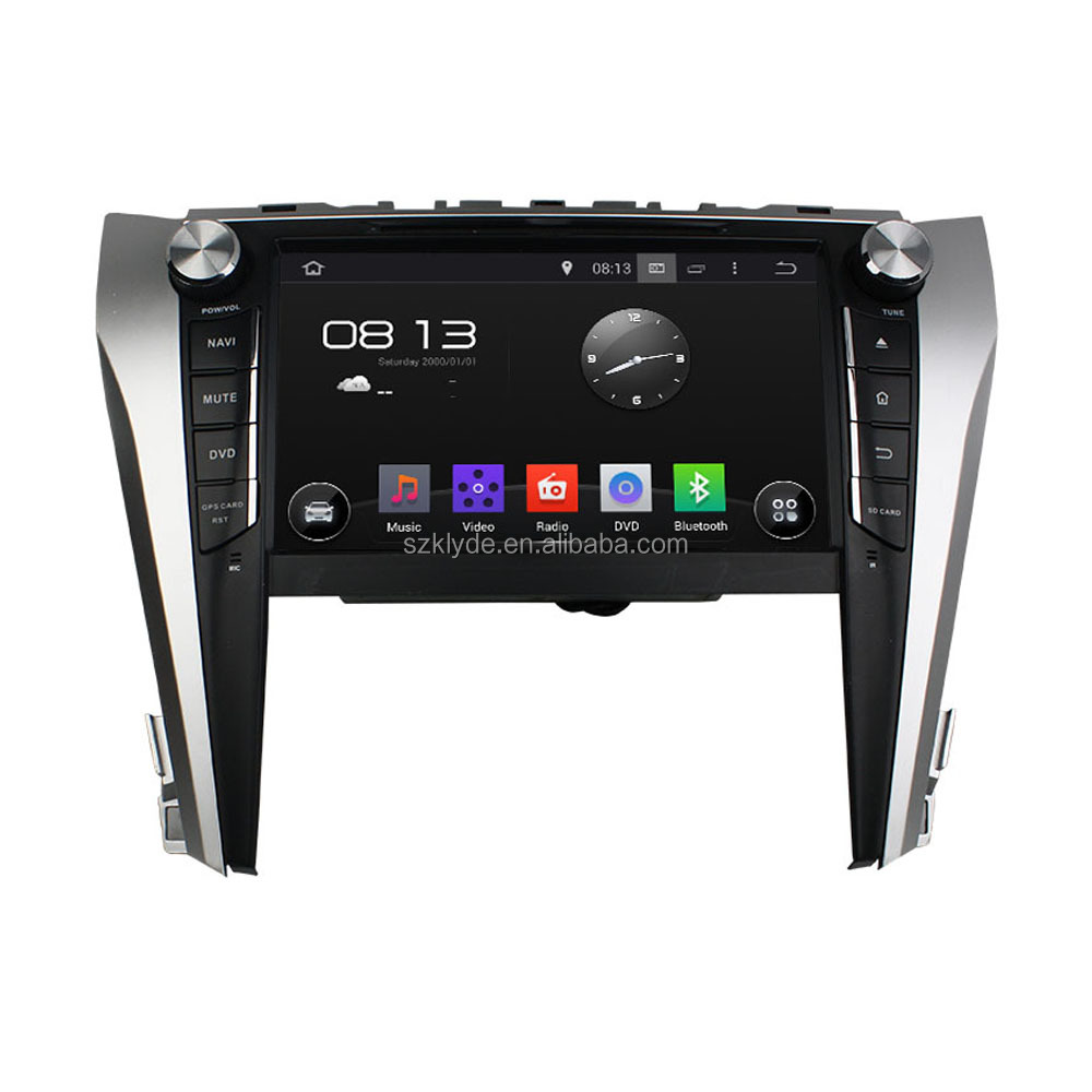 Quad core 16g Nand Flash Ram 1gb Car DVD Player For CAMRY 2015 with touch screen built-in GPS BT support SWC Radio AM