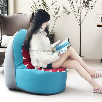 Sea World Fish Design Bean Bag Chair, Kids Beanbag Portable Lounger, Living  Room Reading