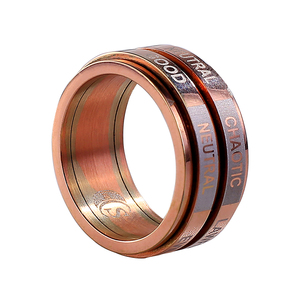 unisex simple popular double layered gold plated titanium steel ring for party