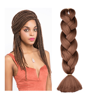 Wholesale kanekalon expression synthetic jumbo hair crochet twist braiding extension