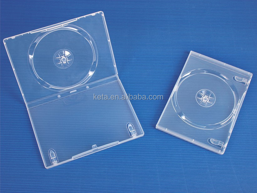 14mm Super Clear Single Plastic Long DVD Case With Sleeve