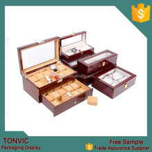 Tonvic Factory Personalized Design Wooden Watch Boxes Storage For Men