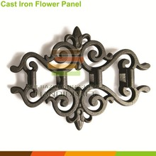 fence gate 12mm, 14mm, 16mm bar insert decoration cast iron flower