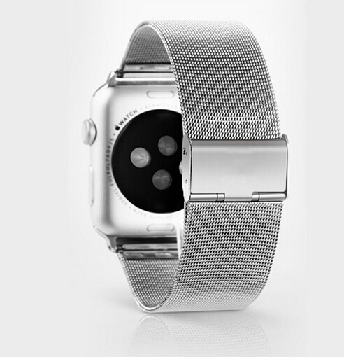 Luxury For Apple Watch Band 38mm 42mm Milanese Loop Woven stainless steel With Metal Adapter Case For iwatch Watchbands