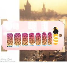 Yellow Pink Cute cat child Nail Arts Nail Sticker Waterproof Nail Decal Sticker Gel Polish French