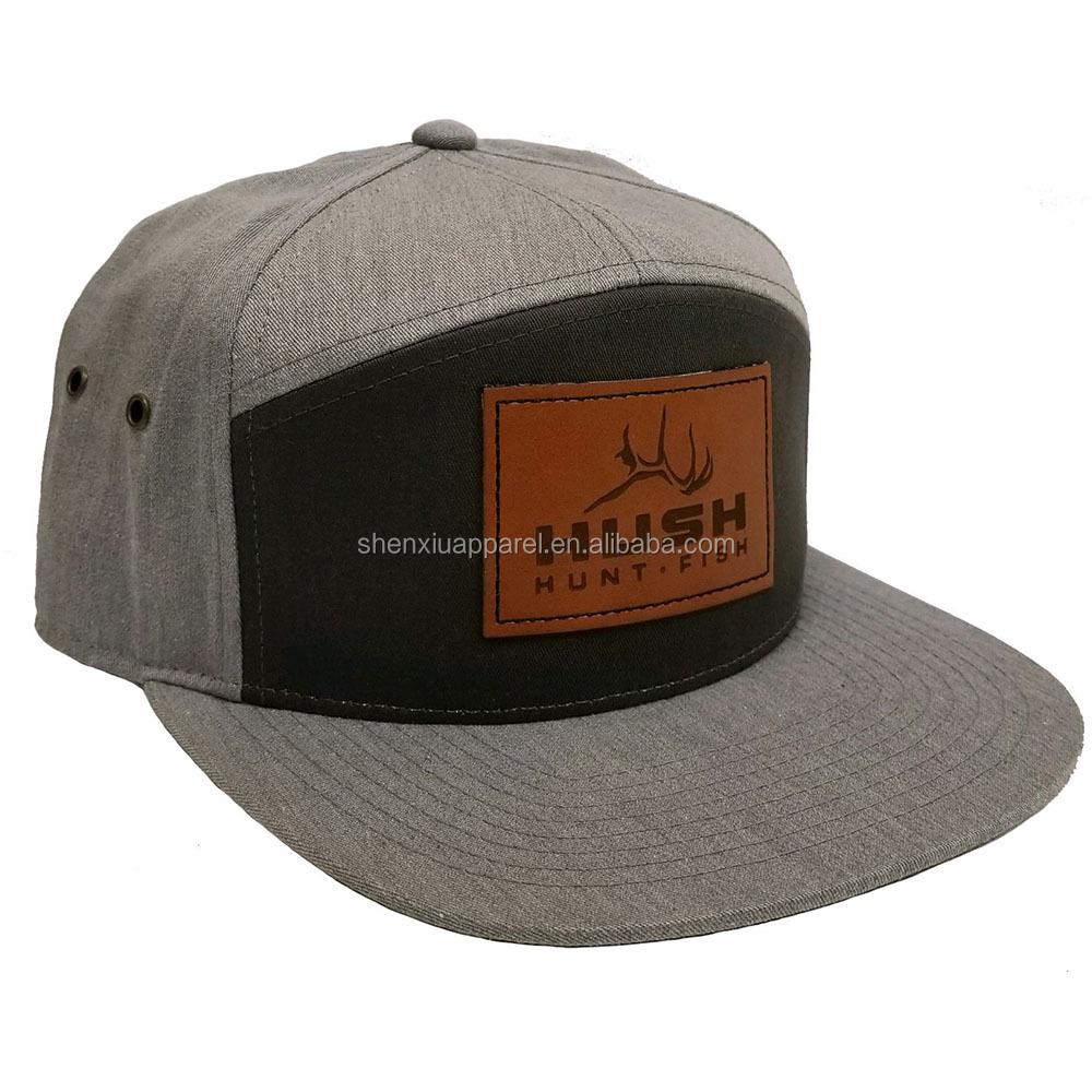 Custom leather patch logo panel snapback hats cap wholesale buy jpg  1000x1000 Snapback hats wholesale ca177b700aec