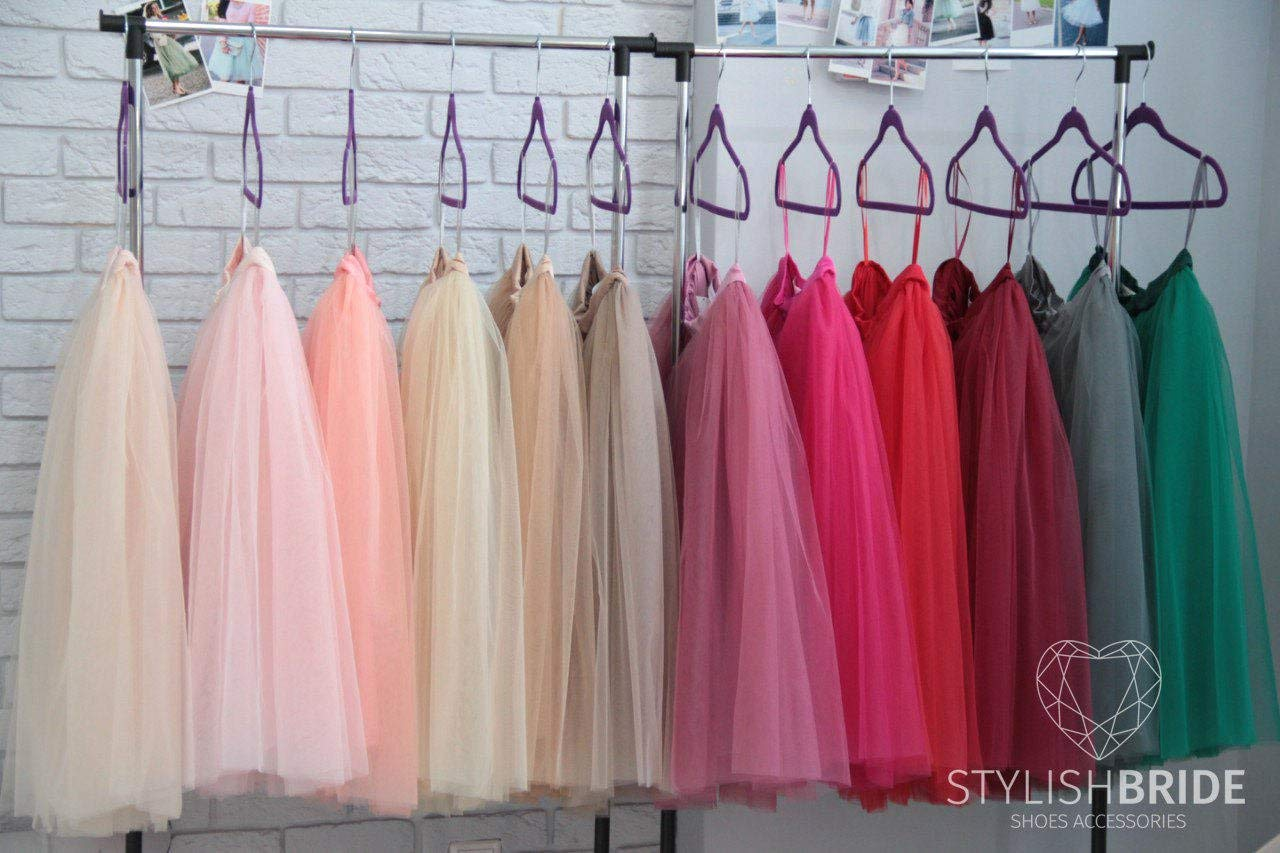 de4f0d86bf Get Quotations · Tulle Skirt 150 Colors Women's Casual, Fay Tulle Skirt  Bridal, Women Tulle Skirt,