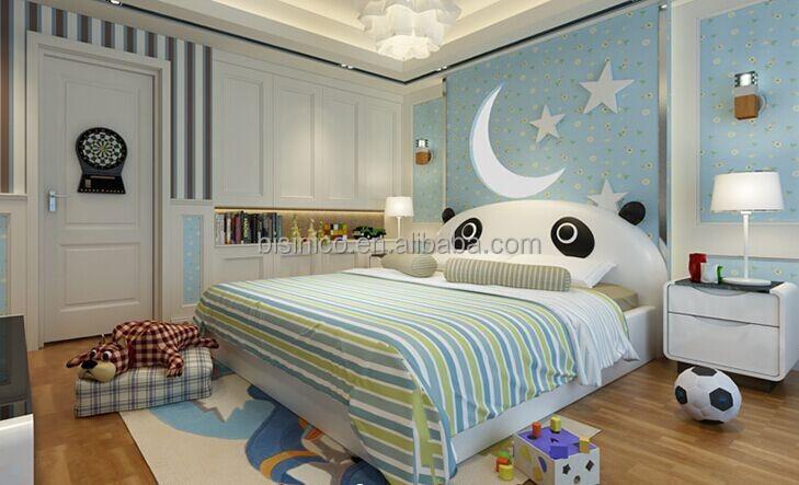 bisini panda de dibujos animados de cama para nios nios juego de dormitorio cama de