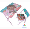 Simple design square wooden kids furniture child folding table and chairs