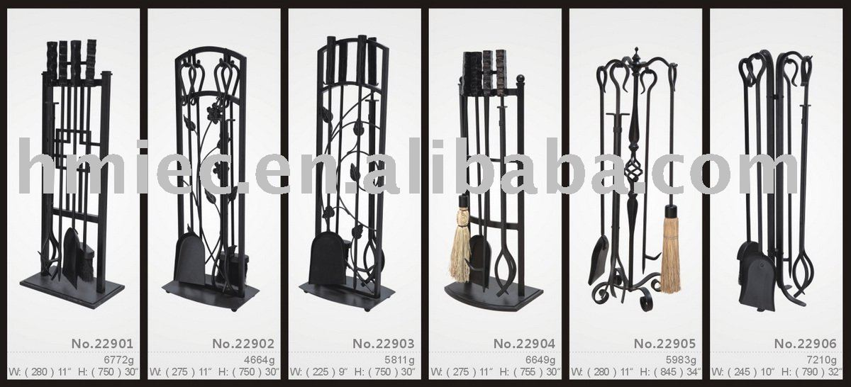 Wrought Iron 5 Pcs Hand Forged Fireplace Tool Sets Buy Fireplace