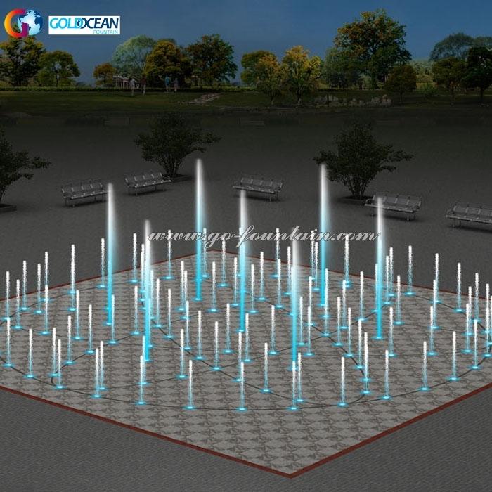 FREE DESIGN ODM Factory Supply Modern Dry Floor Fountain